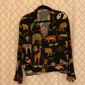 ZARA Animal Blouse
